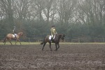 Tinka and Martin warm up in the mud Tweseldown BE100