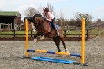 Dylan and Michelle stay for the jumping clinic