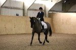 Little Lexi practises her dressage