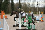 Lexi jumping the BE80 at Felbridge